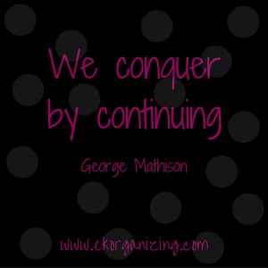 We conquer by continuing.