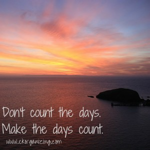 sunset with quotation